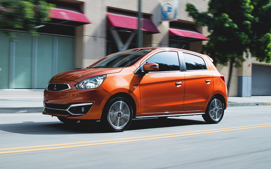 mitsubishi mirage 2016 exterior lateral calle